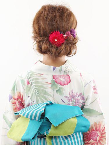浴衣のヘアアレンジ!ロングヘアでアップの簡単なやり方 ...