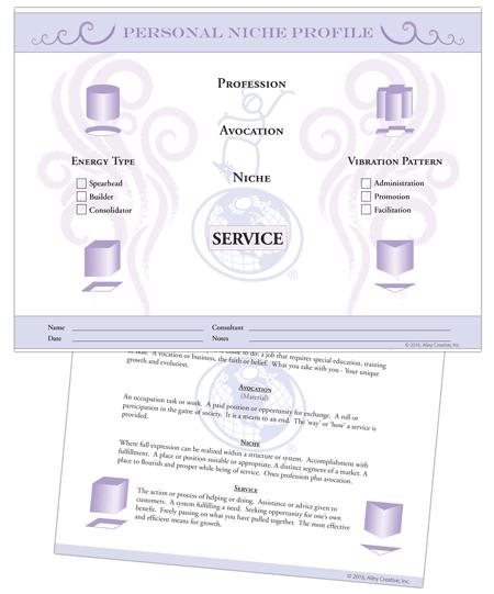 Niche worksheet graphic