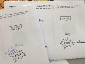 Oefenboeken open bij Werkvorm twee van communicatieles 1
