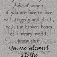 A Broken World Meets an Advent Season