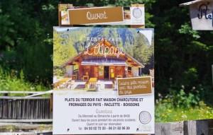 Panneaux Restaurant L'Alpage au Boréon, Saint Martin Vésubie