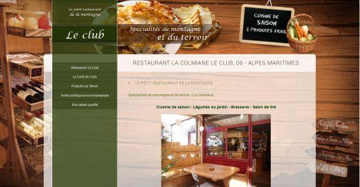 Visuel du site Restaurant Le Club à la Colmiane, Valdeblore- Alpes Maritimes