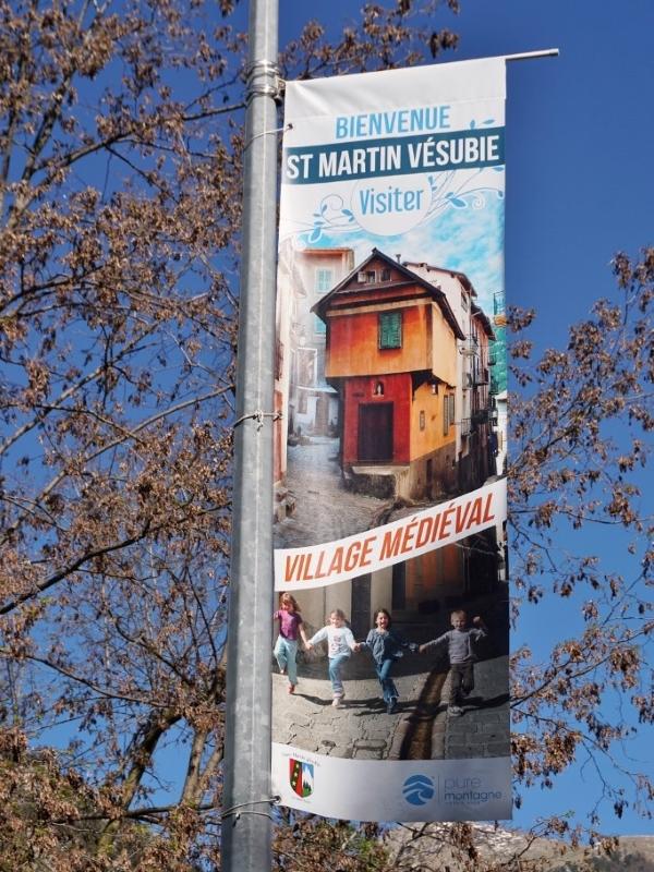 Kakemono MAIRIE Saint Martin Vésubie imprimé avec Communication Hors-Piste