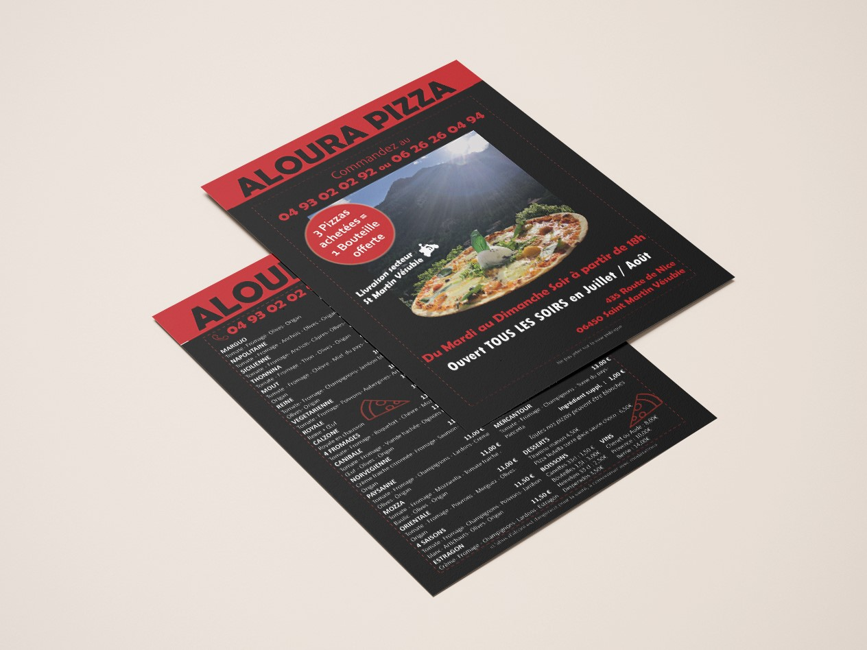 MOCKUP FLYER ALOURA PIZZA
