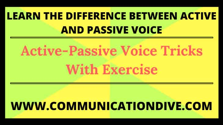 WHAT IS ACTIVE AND PASSIVE VOICE