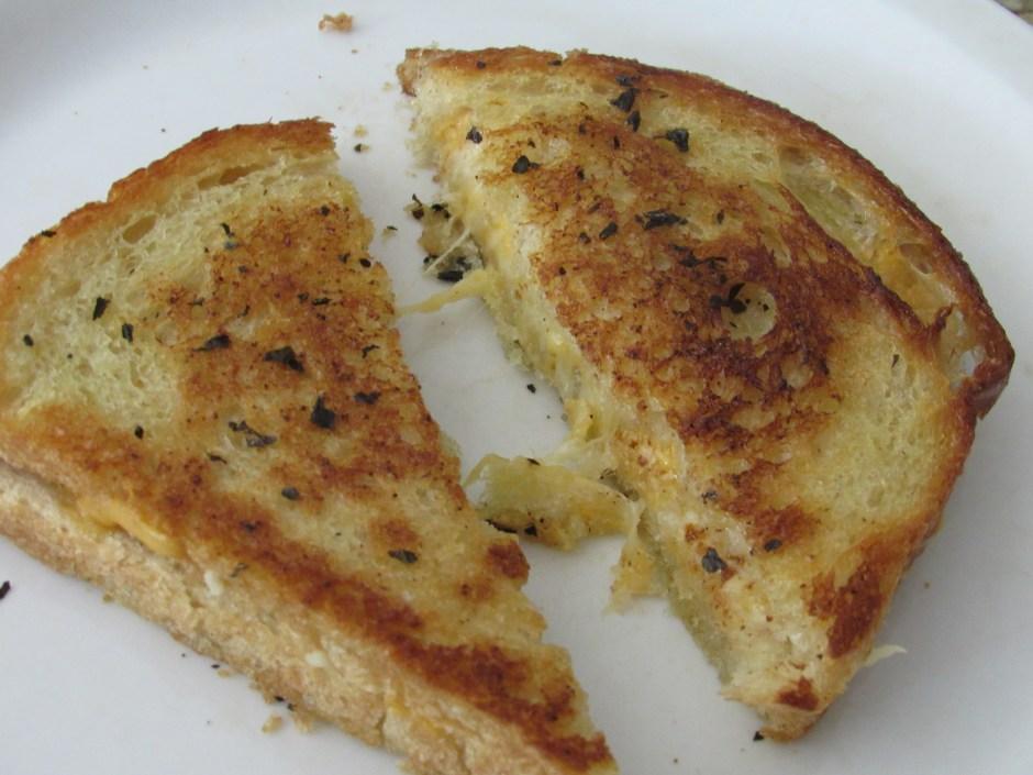 delicious garlic bread grilled