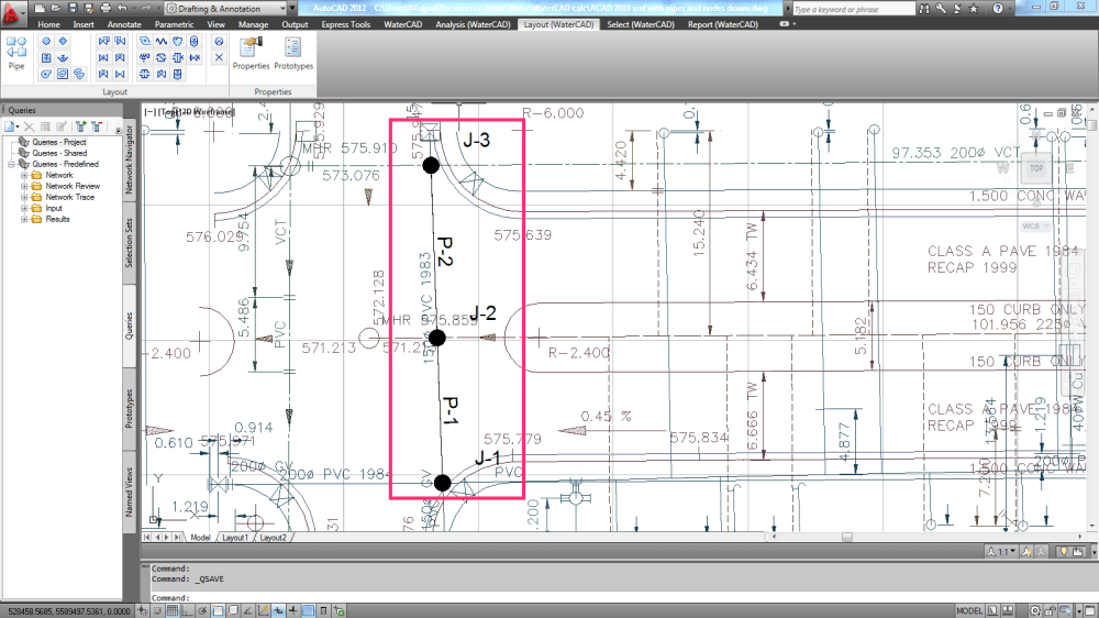 medium resolution of what is the method of changing element junction pipe etc and labels j 1 p 4 etc in watercad v8i for autocad civil 3d 2012