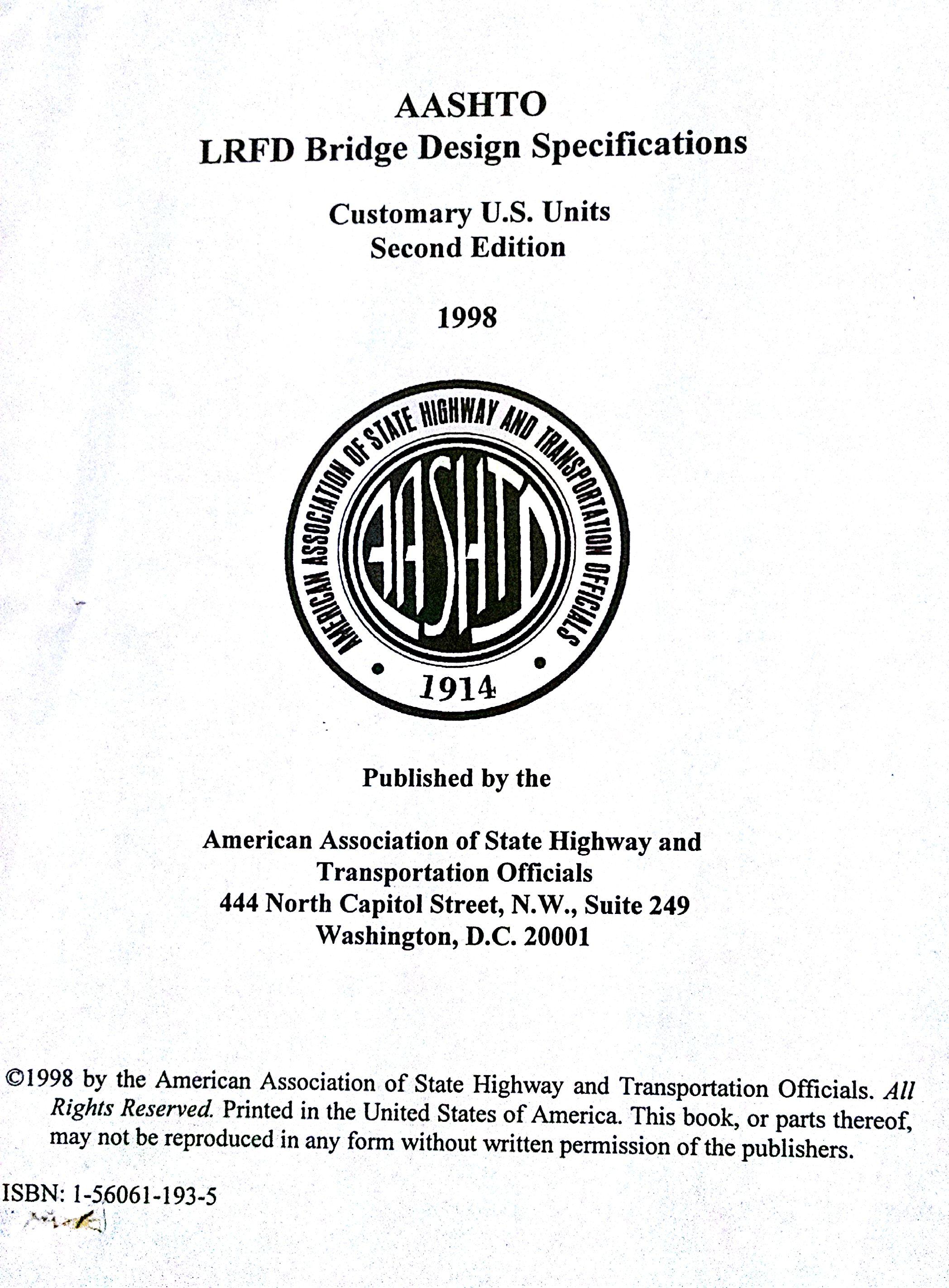 Staad AASHTO (LRFD) Design Code Version