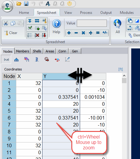 Ram Elements - Adjusting Text Size in Spreadsheet - RAM | STAAD Wiki ...