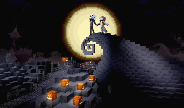 Image result for nightmare before christmas minecraft
