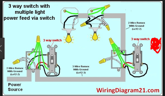 wiring diagram for one way light switch