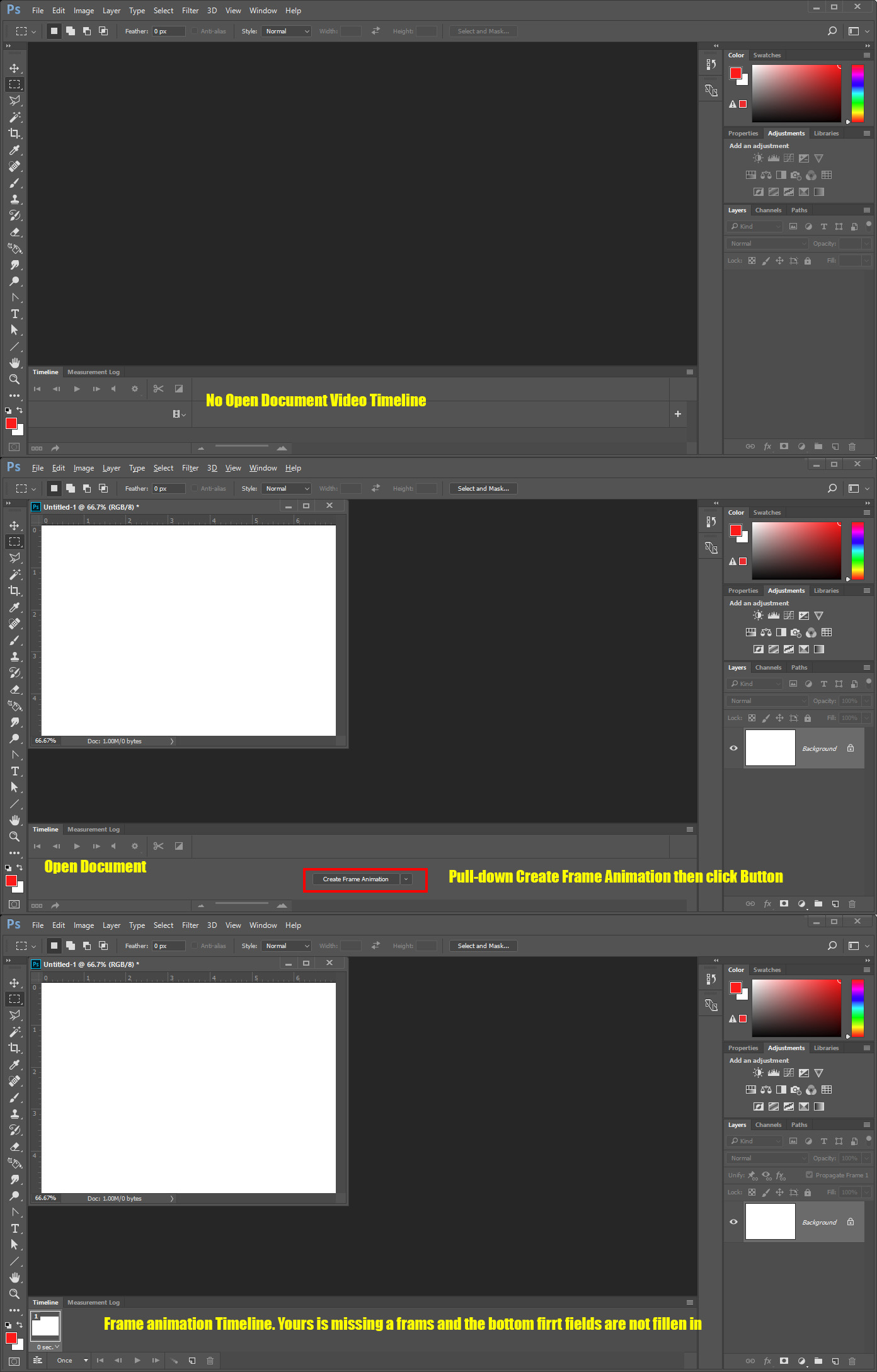 How To Create A Frame In Photoshop : create, frame, photoshop, Solved:, Can't,