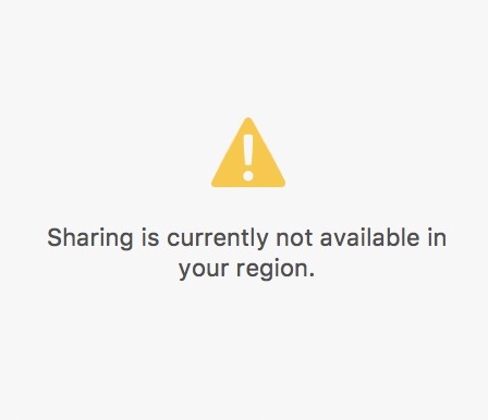pics Currently Not Available share error while sharing sharing is