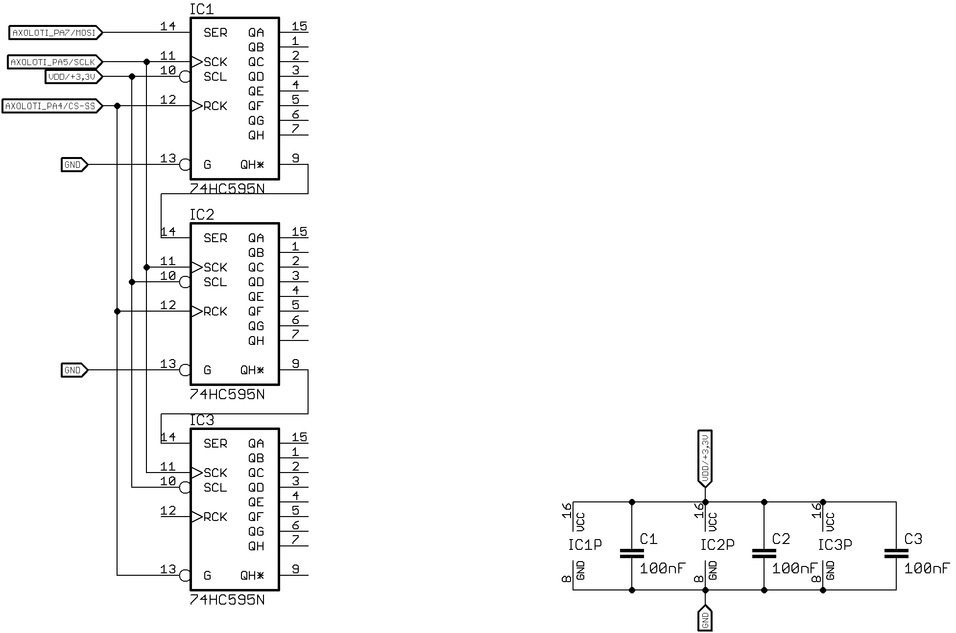 Gpio I O Example 74hc595 Shift Register Amp Spi