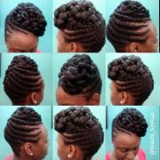 flat twisted updo ekua - black