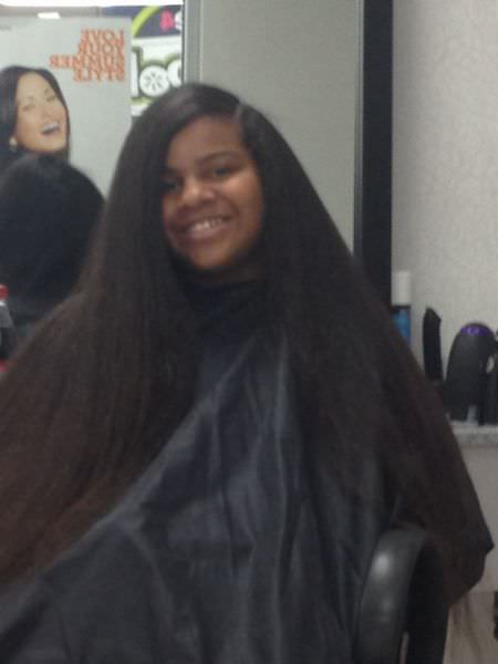 Natural Hair Blow Dried And Flat Ironed Shared By Deneen