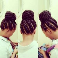 Goddess Braids And Bun - Black Hair Information Community