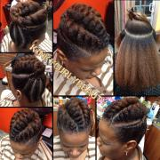 pretty flat twist updo - black