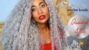 silver crochet braids - black hair