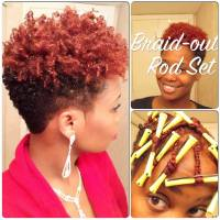 Braid-Out Rod Set On Short Natural Hair [Video] - Black ...