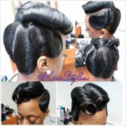 retro glam victory rolls ' waves