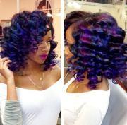 fun color weave - black hair