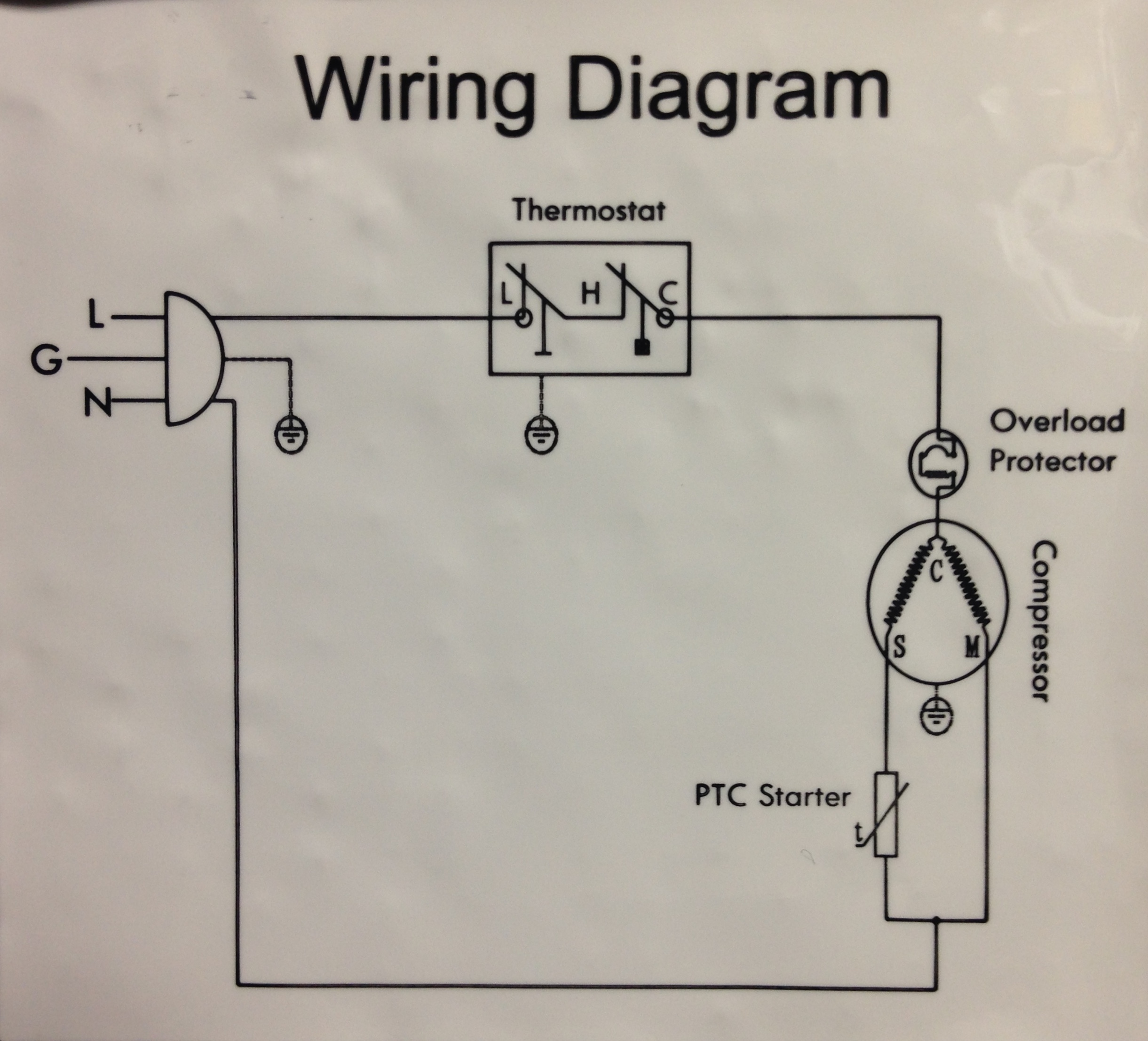 Fridge Thermostat Wiring