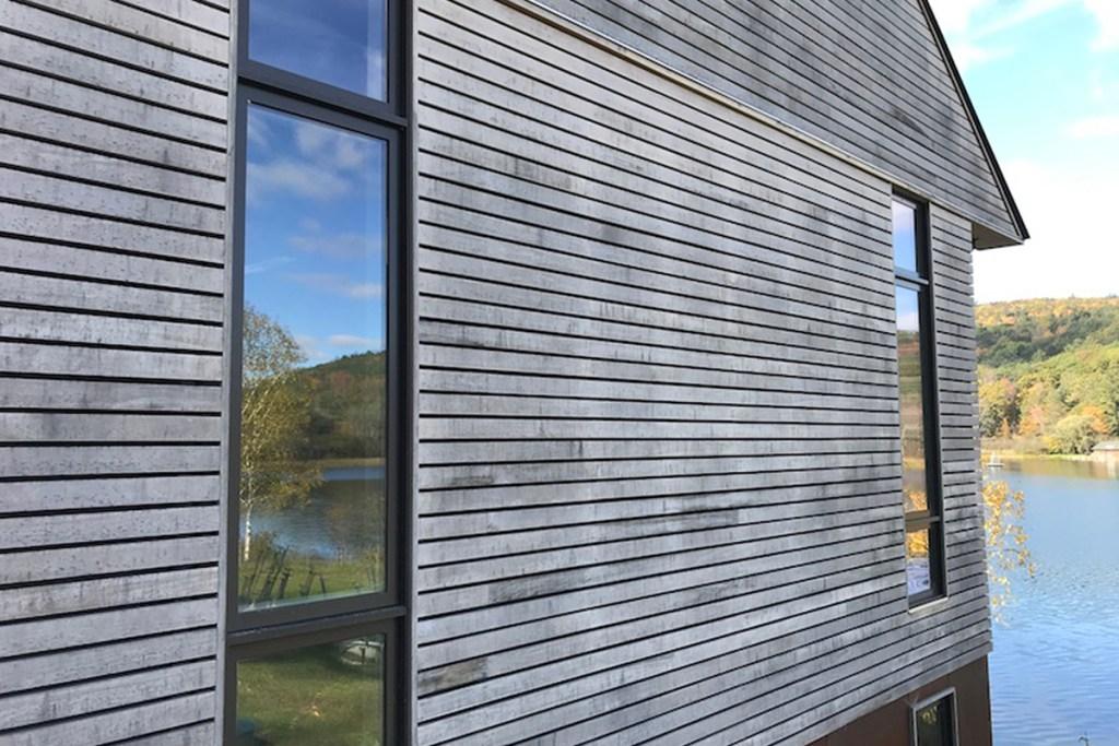 cedar siding on home