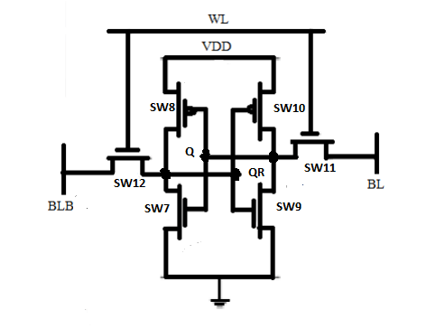 Sram read operation using switches (SMOD) in pspice