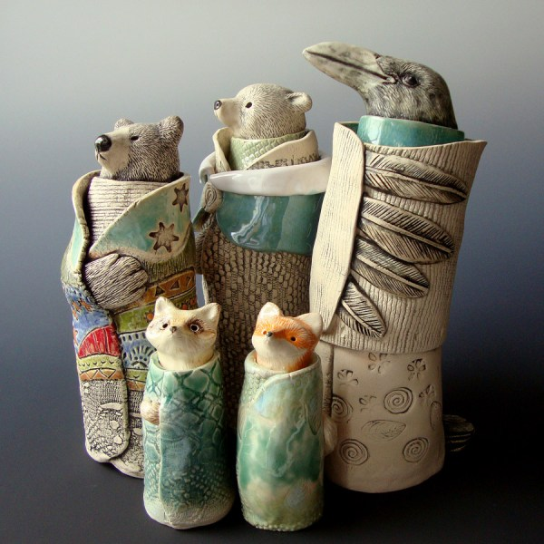 Animal Spirit Guide Sculptures - Clay Sculpture Ceramic Arts Daily Community
