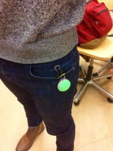 Our device can also be attached to clothing.