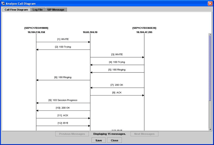 sip call flow diagram ford f250 wiring for trailer plug taking trace on cisco unified community option to show the and message select corresponding tab analyze