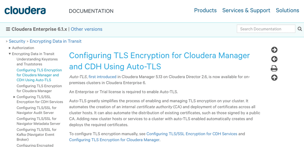 Auto-TLS on 6.1 Express Cluster Creation - Cloudera Community