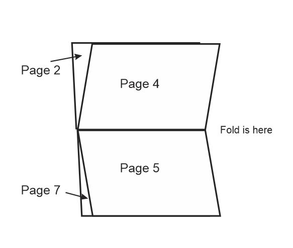 How do I setup a HORIZONAL booklet (letter size) with fold