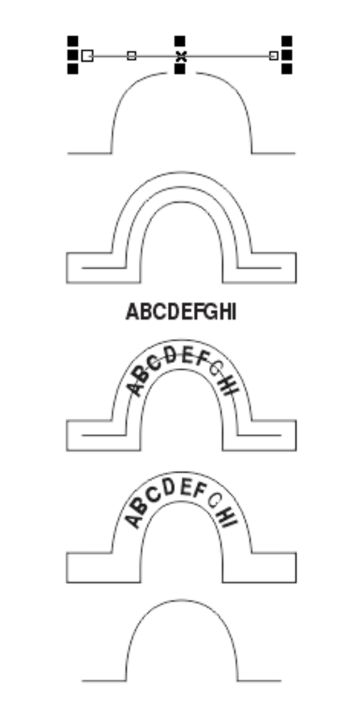 HOW TO DRAW A PERFECT SHAPE OF THIS TYPE AND WRITE TEXT IN
