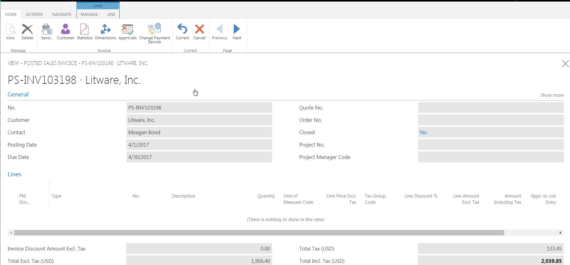 Posted Sales Invoice lines missing on posted invoices