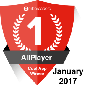 AllPlayer - January 2017 Cool App Winner
