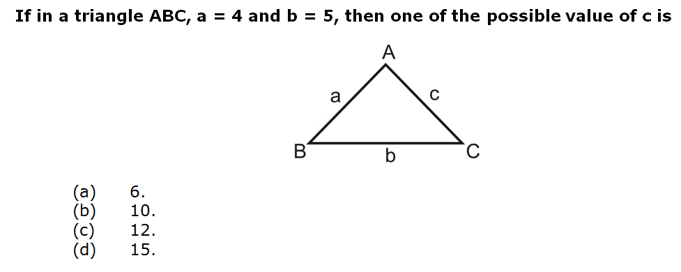 If in a triangle ABC, a