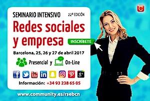 Redes Sociales y Empresa Seminario Intensivo Community Internet Enrique San Juan