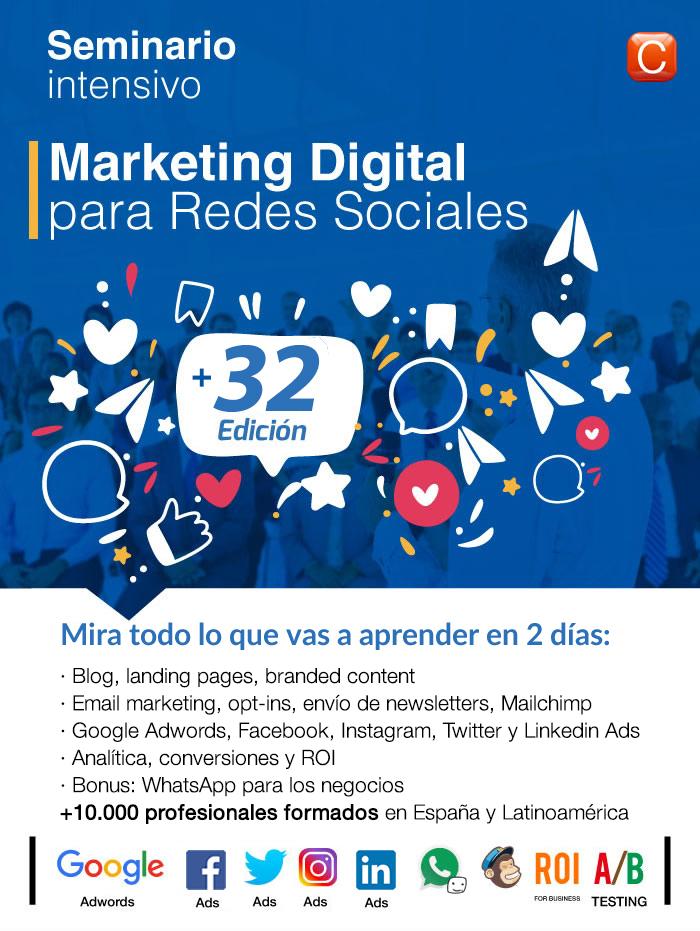 seminario marketing digital community internet