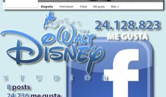 infografia Walt Disney Studios Facebook community internet the social media company