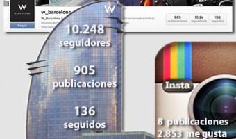 infografia hotel W Barcelona Instatgram community internet the social media company