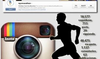 infografia maraton nueva york Instagram community internet