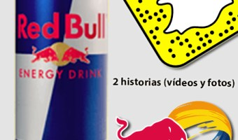 infografia red bull Snapchat analisis community internet the social media company