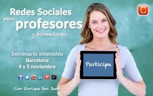 redes sociales para profesores seminario enrique san juan community internet
