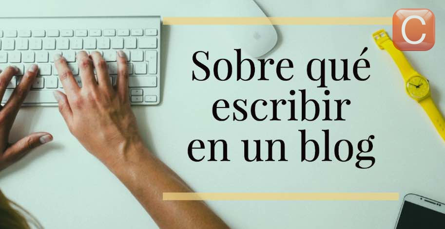sobre que escribir en un blog community internet