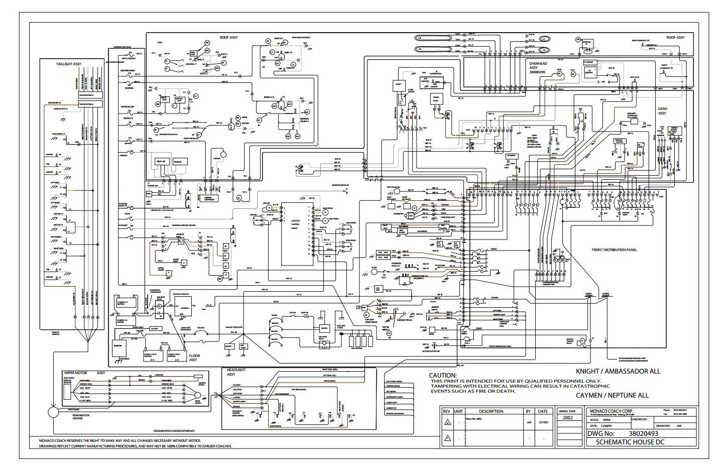 Monaco Motorhome Wiring Diagram Wiring Diagram Third Level