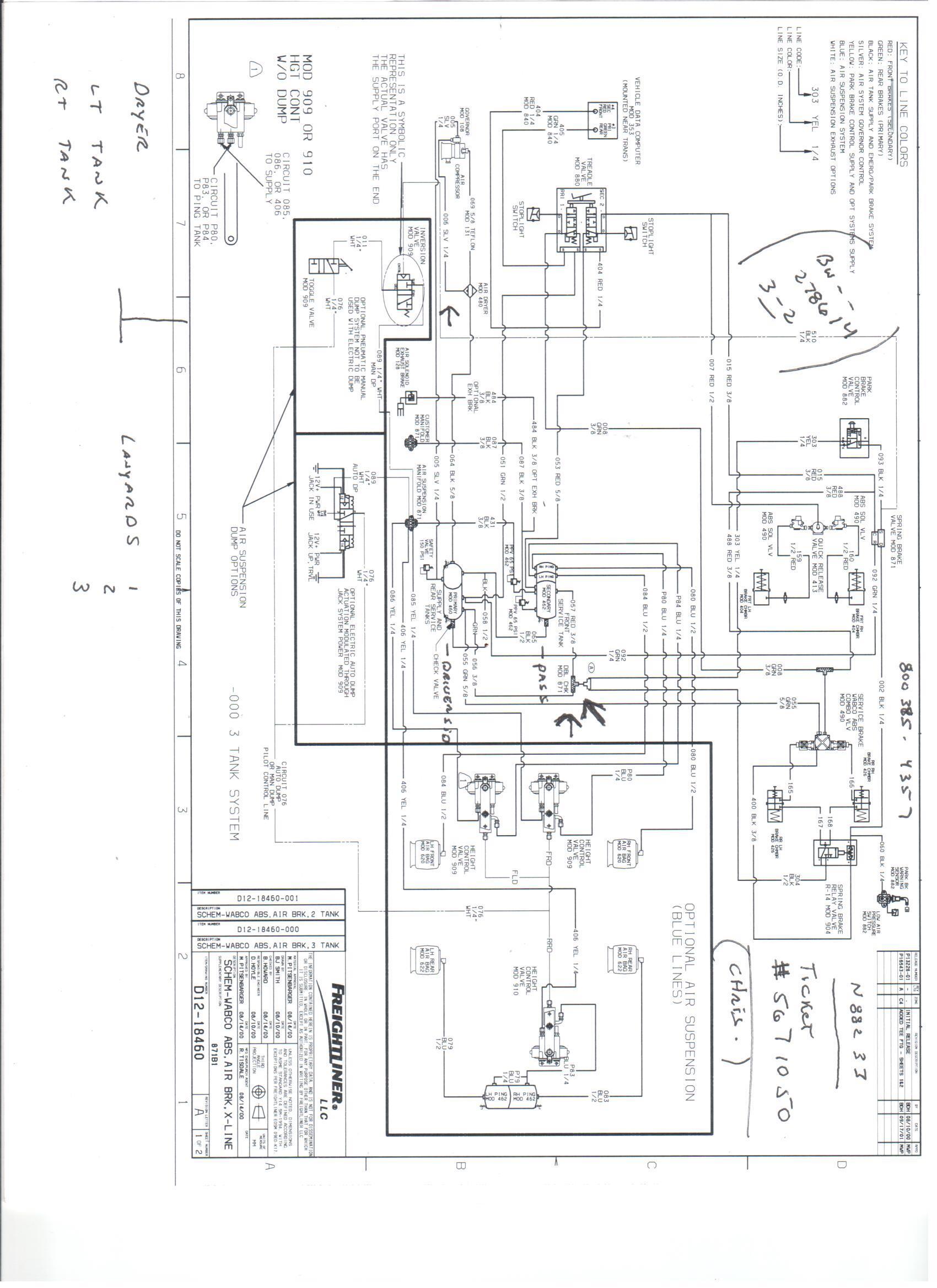 2011 Freightliner Air Bag Dump Valve Switch Wiring