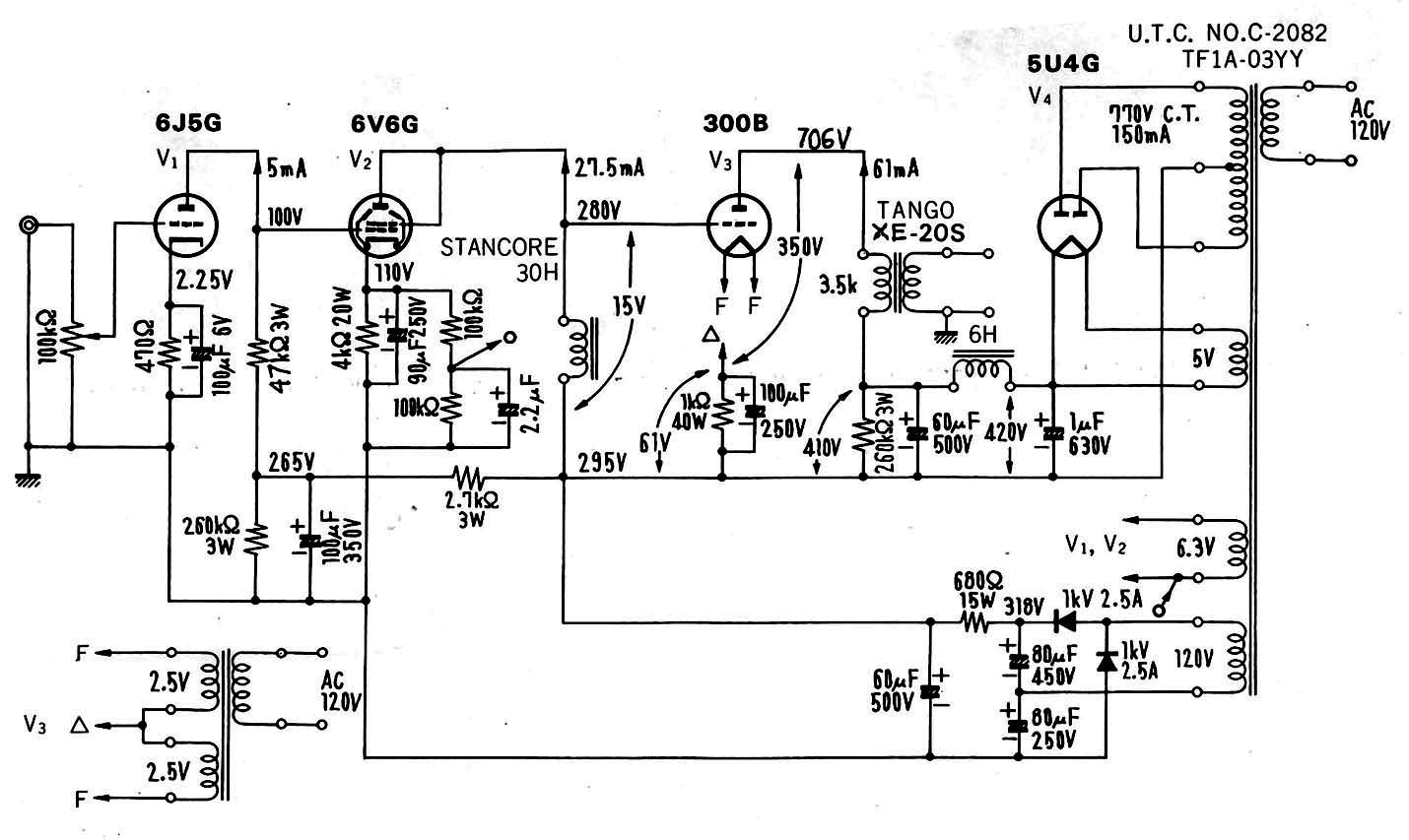 K B Amplifier Schematic