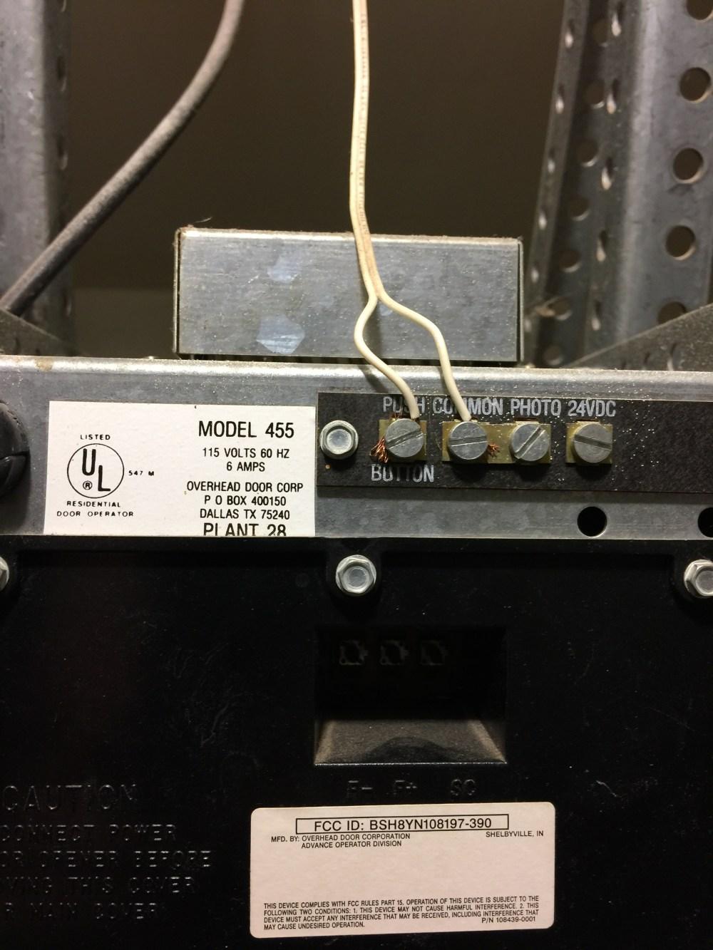 medium resolution of i have a overhead door corp model 455 opener